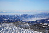 Soft rime and Mt. Iide in Japan — 图库照片