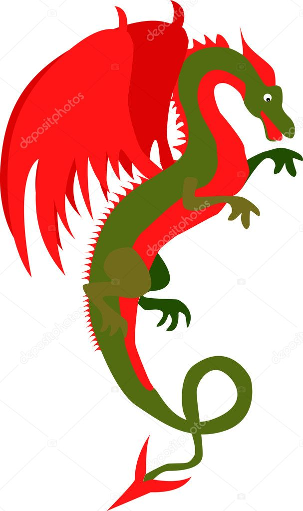 A vector-illustration of an dragon — Stock Vector #8798485