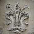 Stock Photo: Fleur-de-lis carving