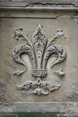 Fleur-de-lis carving — Stock Photo