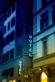 Hotel in the city — Stock Photo