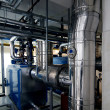 Stock Photo: Gas boiler room