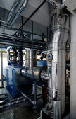 Gas boiler room — Stock Photo