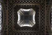 Under the Eiffel tower, Paris, France — Stock Photo