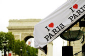 I love Paris badge — Stock Photo