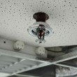 Installation of a fire sprinkler — Stock Photo