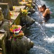 Puru Tirtha Empul Temple purifying pools - Stock Photo