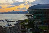 Sunset over Busan — Stock Photo