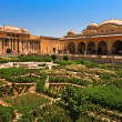 Beautiful gardens in Amer Fort — Stock Photo #8675373