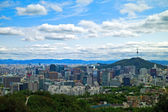 Panoramic view of Seoul, South Korea — Stock Photo