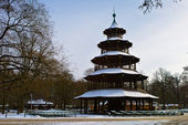 Chinese turm at the English Garden — Stock Photo