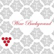 Wine card background vector — Stock Vector