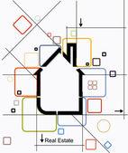City real estate circuit vector — Stock Vector