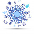 Snow flakes vector — Stock Vector
