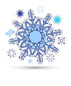 Vector de copos de nieve — Vector de stock