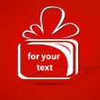 Gift vector for your text — Stockvectorbeeld