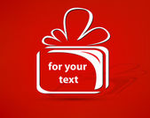Gift vector for your text — Cтоковый вектор