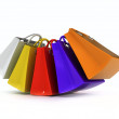 Color paper bags — Stock Photo