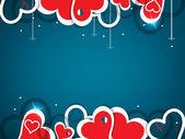 Heart valentine background — Stock Vector