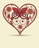 Vintage heart background — Stock Vector