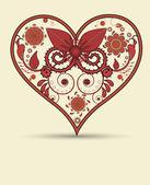 Vintage heart background — Stock Vector