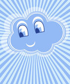 Cloud smile vector — Stock Vector