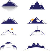Mountain vector format — ストックベクタ