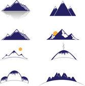 Mountain vector format — Stock Vector