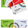 Set of abstract business card — Image vectorielle