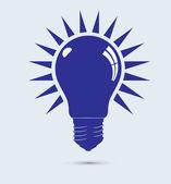 Mavi işık ampüller vektör formatında — Stok Vektör