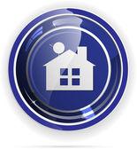 Real estate web button — Stock Vector