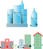 Real estate vector buildings — Stock Vector