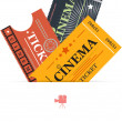 Royalty-Free Stock Vector Image: Cinema tickets background vector