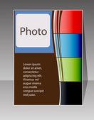 Flyer design vector format — Stock Vector