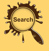Magnifying search glass vector — Stock Vector