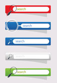 Search buttons for website vector — Stock Vector