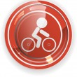 Bicycle travel web button vector - Stock Vector