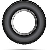 Car tire vector — Vector de stock