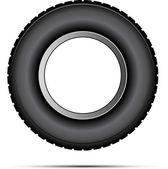 Vector de neumático de coche — Vector de stock