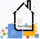 Real estate house background vector — Stock Vector