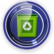 Recycle button, environment protection, vector format — Stock Vector
