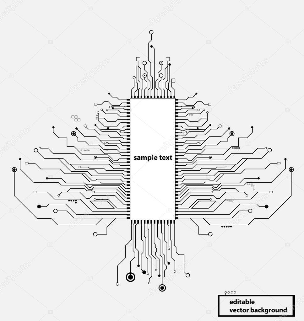 circuit board tree vector format  u2014 stock vector  u00a9 vska