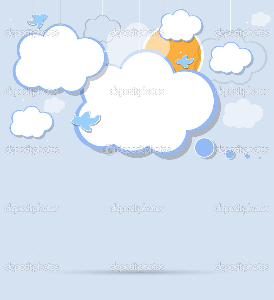 Cloud vector bacground  Stock Vector #9143294