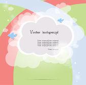 Child cloud vector background — Stock Vector