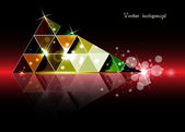 Triangle abstract vector background — Stock Vector