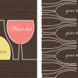 Wine list design vector — Stock Vector