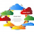 Cloud background vector — Stock Vector