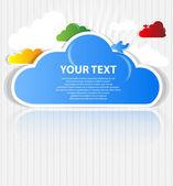 Cloud background vector — Stock Vector