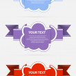Cloud label vector — Stock Vector