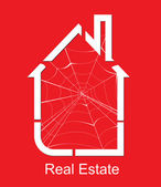 Real estate spider vector — Stock Vector